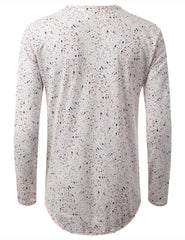VANILLA Dot Splatter Long Sleeve Tshirt - URBANCREWS