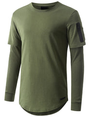 OLIVE Thermal Sleeved Long Sleeve Tshirt - URBANCREWS