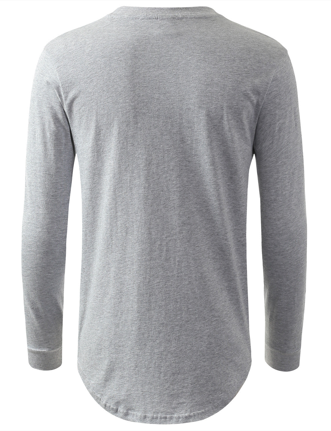 HGRAY Nylon Trim Thermal Longline Sweatshirt - URBANCREWS