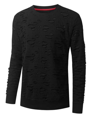 2 Tone Ripped Long Sleeve Tshirt