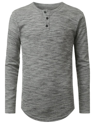 3-Button Placket Thermal T-shirt