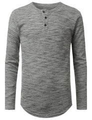 HGRAY 3-Button Placket Thermal T-shirt - URBANCREWS