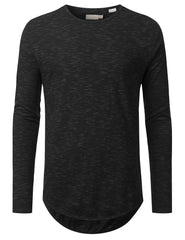 PEPPER Textured Long Sleeve Tshirt - URBANCREWS