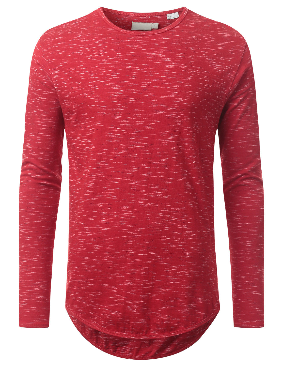 RED Textured Long Sleeve Tshirt - URBANCREWS