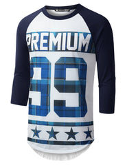 WHITENAVY Premium 99 Raglan Baseball Shirt - URBANCREWS
