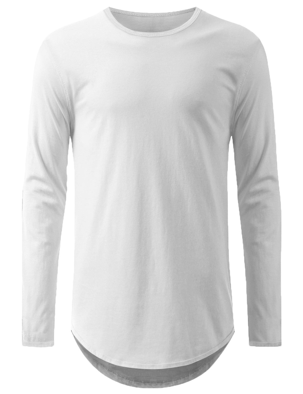 WHITE Lightweight Basic Long Sleeve Tshirt - URBANCREWS