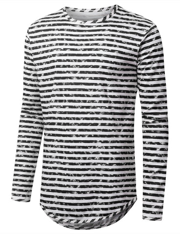 Faded Striped Long Sleeve Tshirt