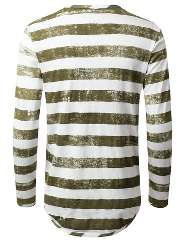 Vintage Striped Long Sleeve Tshirt