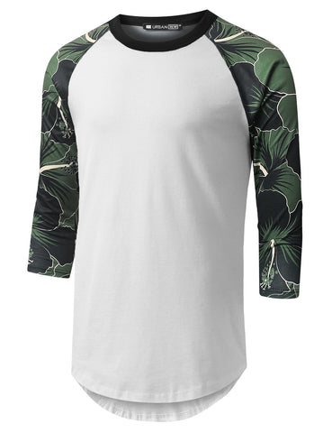 Rose Sharon Camo Raglan Baseball Shirt