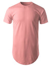 PINK Basic Longline Crewneck T-shirt with Side Zippers - URBANCREWS