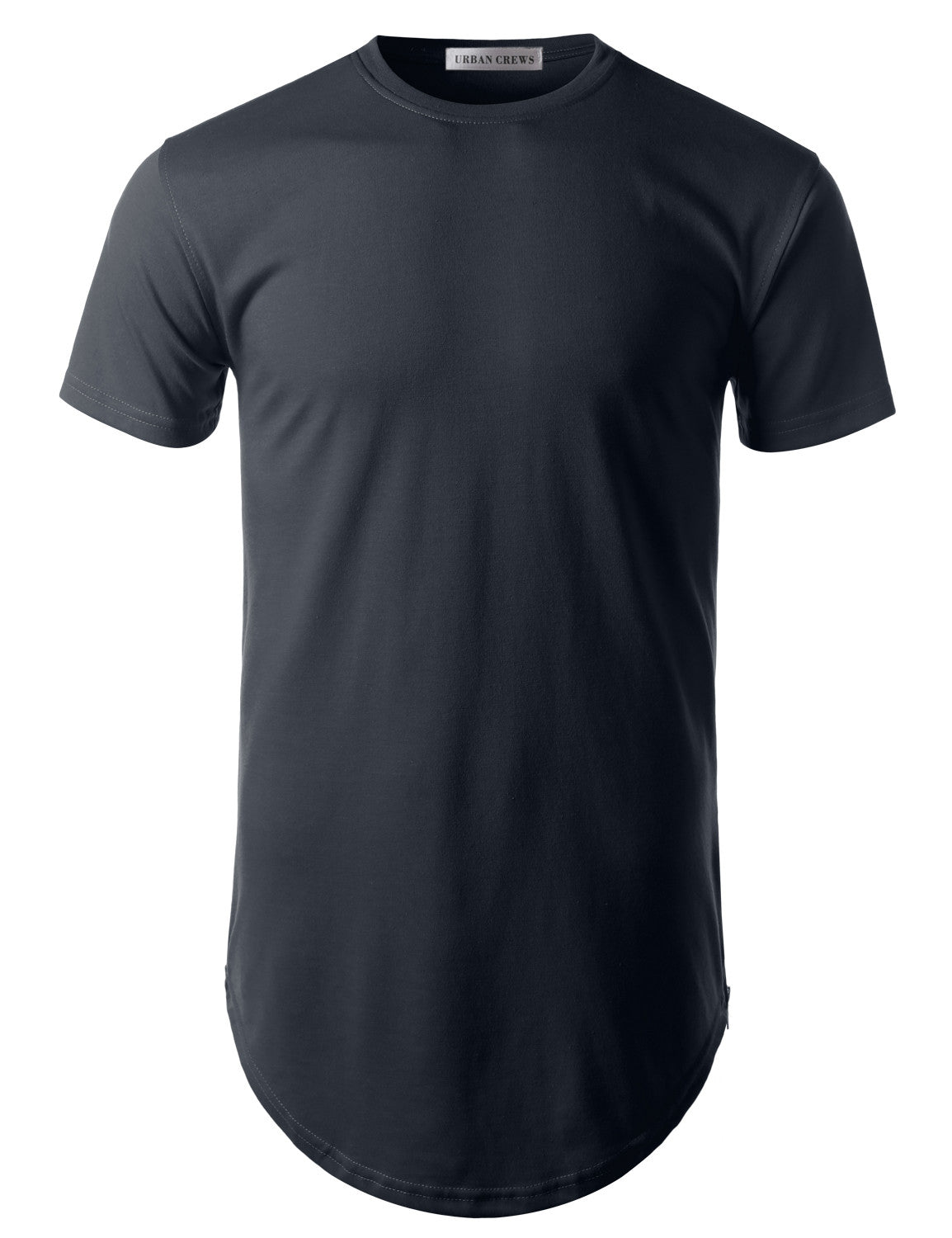Basic Longline Crewneck T-Shirt with Side Zipper