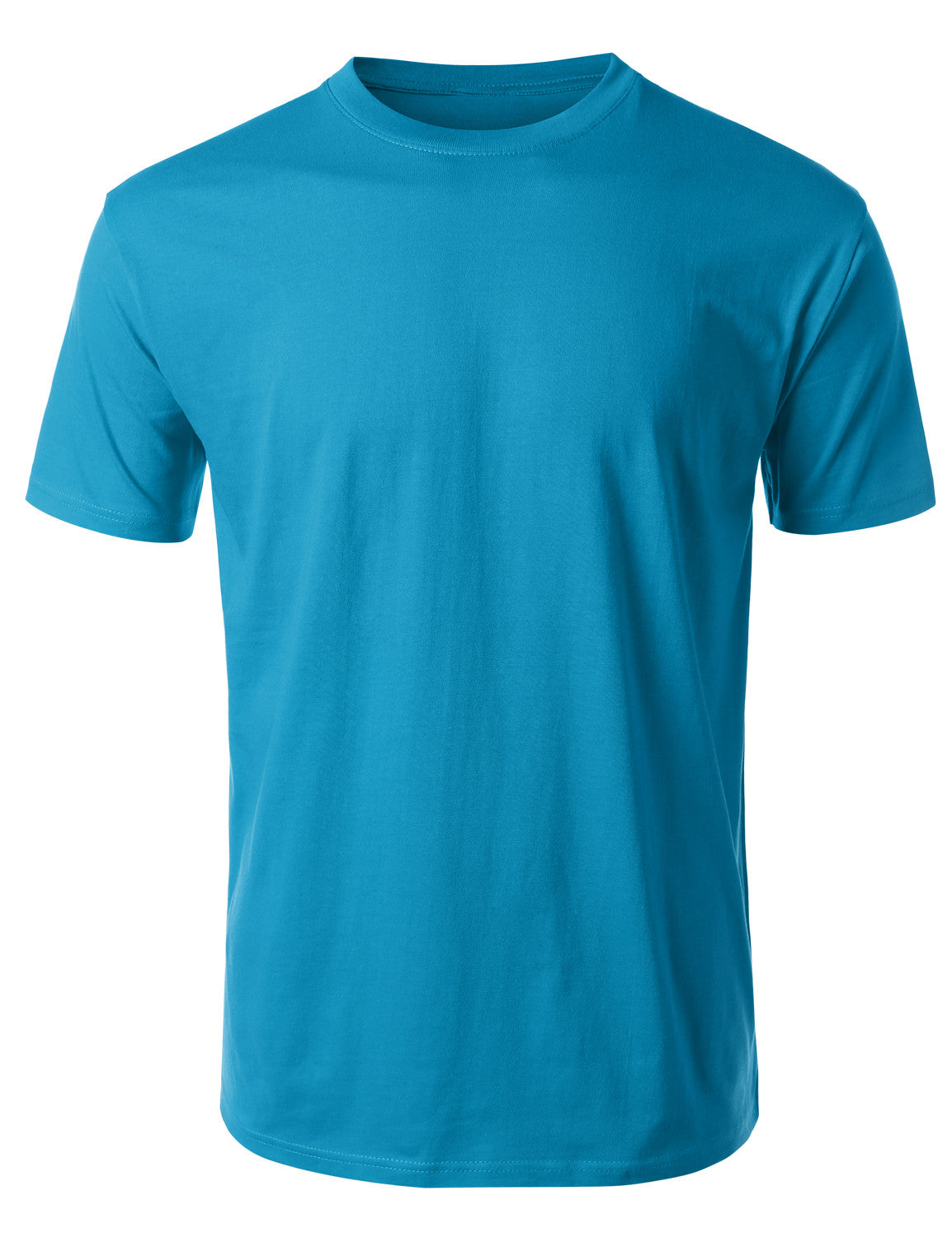 AQUA Basic Cotton Jersey Crewneck T-Shirt - URBANCREWS