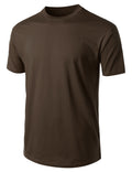 BROWN Basic Cotton Jersey Crewneck T-Shirt - URBANCREWS