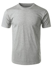 HGRAY Basic Cotton Jersey Crewneck T-Shirt - URBANCREWS