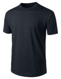 NAVY Basic Cotton Jersey Crewneck T-Shirt - URBANCREWS