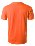 ORANGE Basic Cotton Jersey Crewneck T-Shirt - URBANCREWS