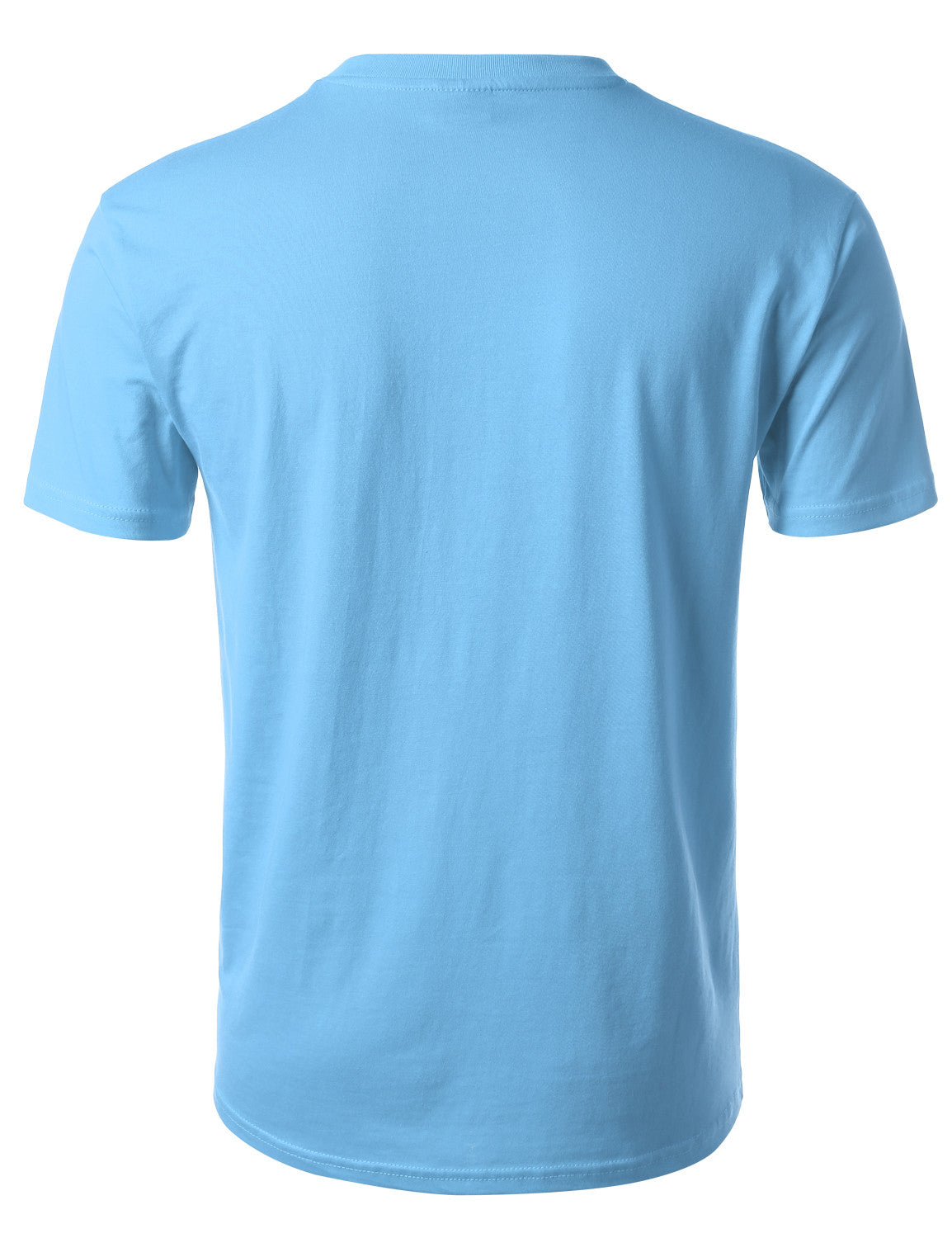 POWDBLUE Basic Cotton Jersey Crewneck T-Shirt - URBANCREWS
