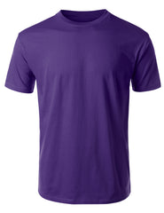 PURPLE Basic Cotton Jersey Crewneck T-Shirt - URBANCREWS