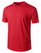 RED Basic Cotton Jersey Crewneck T-Shirt - URBANCREWS