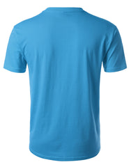 VIVIDBLUE Basic Cotton Jersey Crewneck T-Shirt - URBANCREWS