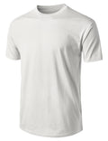 WHITE Basic Cotton Jersey Crewneck T-Shirt - URBANCREWS