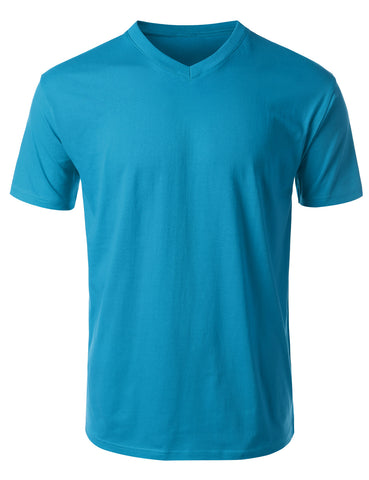 Basic Cotton Jersey V-Neck Tshirt