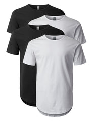 Crewneck Basic T-Shirts 4 Pack Black/White