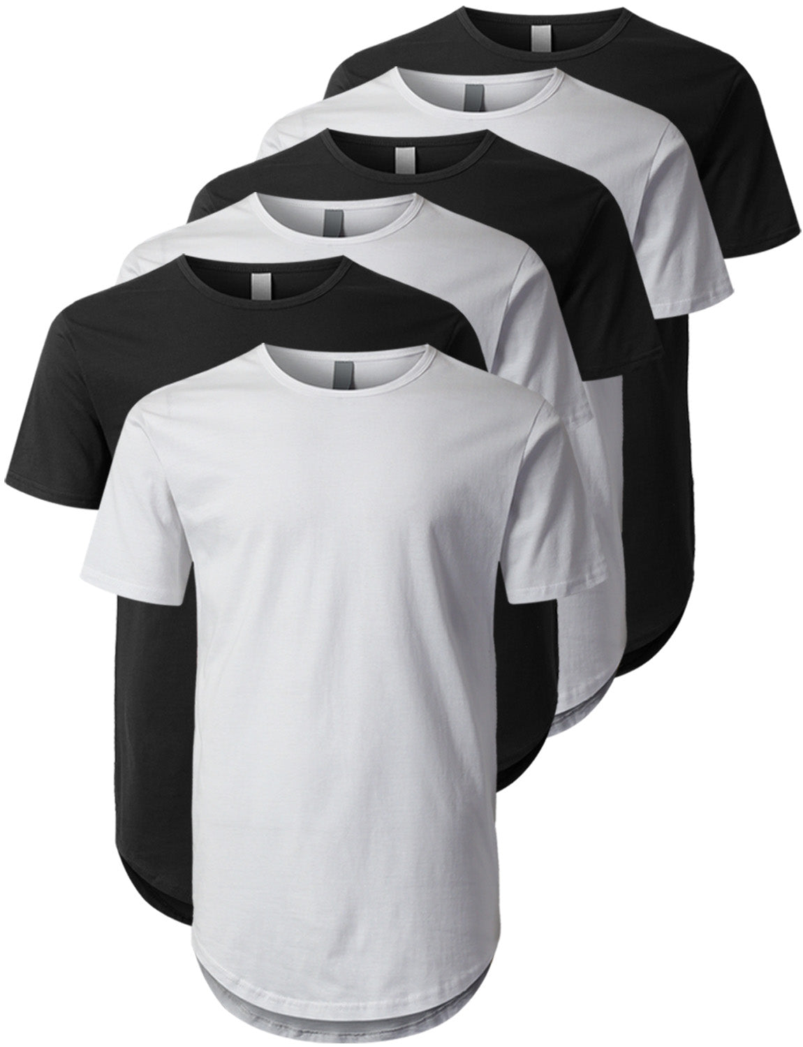 MIX Crewneck Basic T-Shirts 6 Pack Black/White