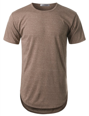 Basic Crewneck Longline Tshirts- Various Colors