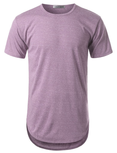 Basic Crewneck Longline T-shirt- Various Colors