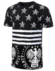 BLACK AMERICAN FLAG SHIRT