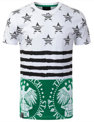 GREEN AMERICAN FLAG SHIRT