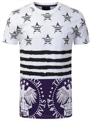PURPLE AMERICAN FLAG SHIRT