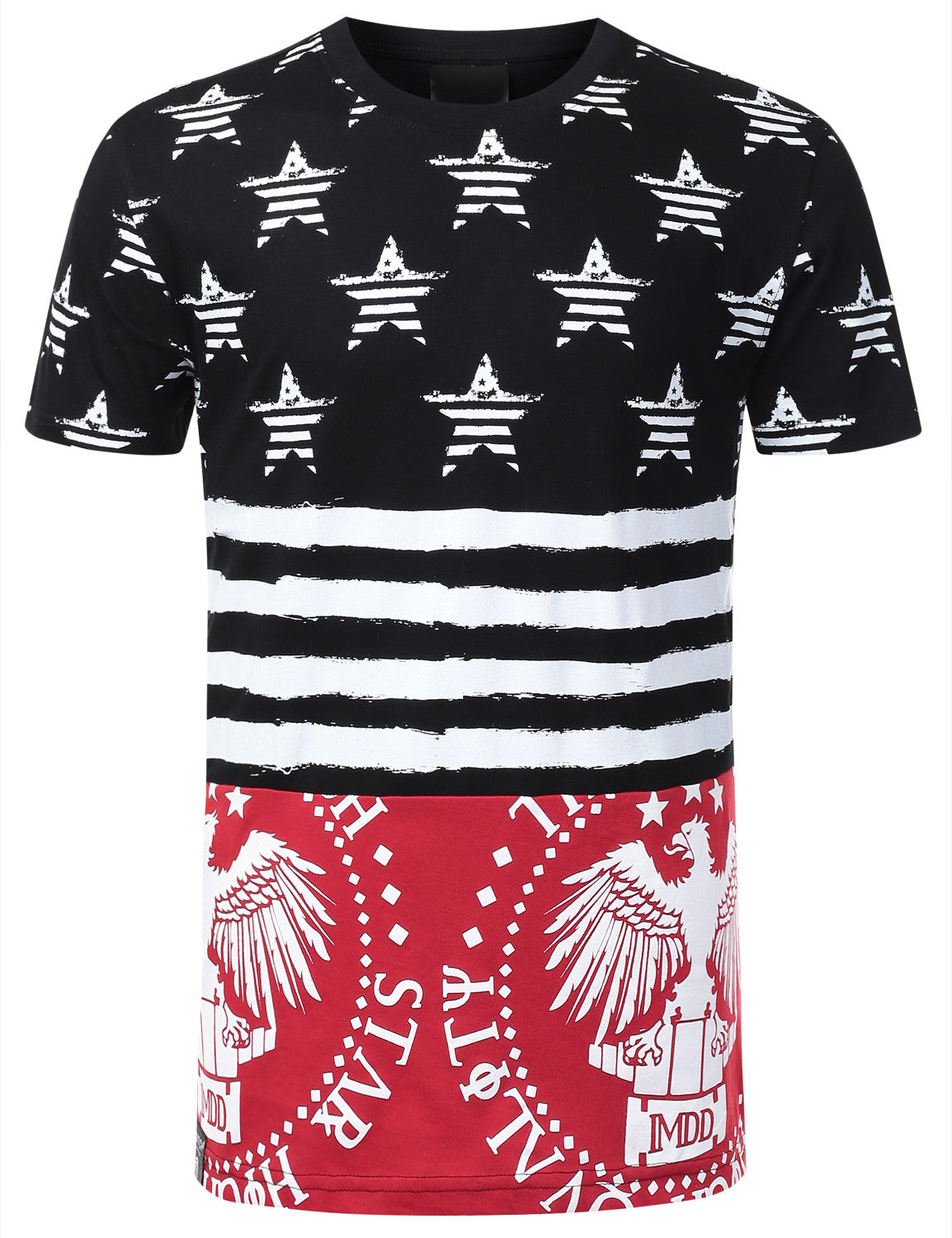 RED AMERICAN FLAG SHIRT
