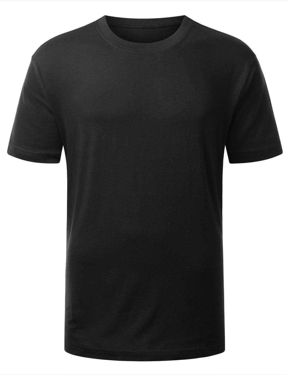 BLACK Classic Crewneck T Shirt - URBANCREWS