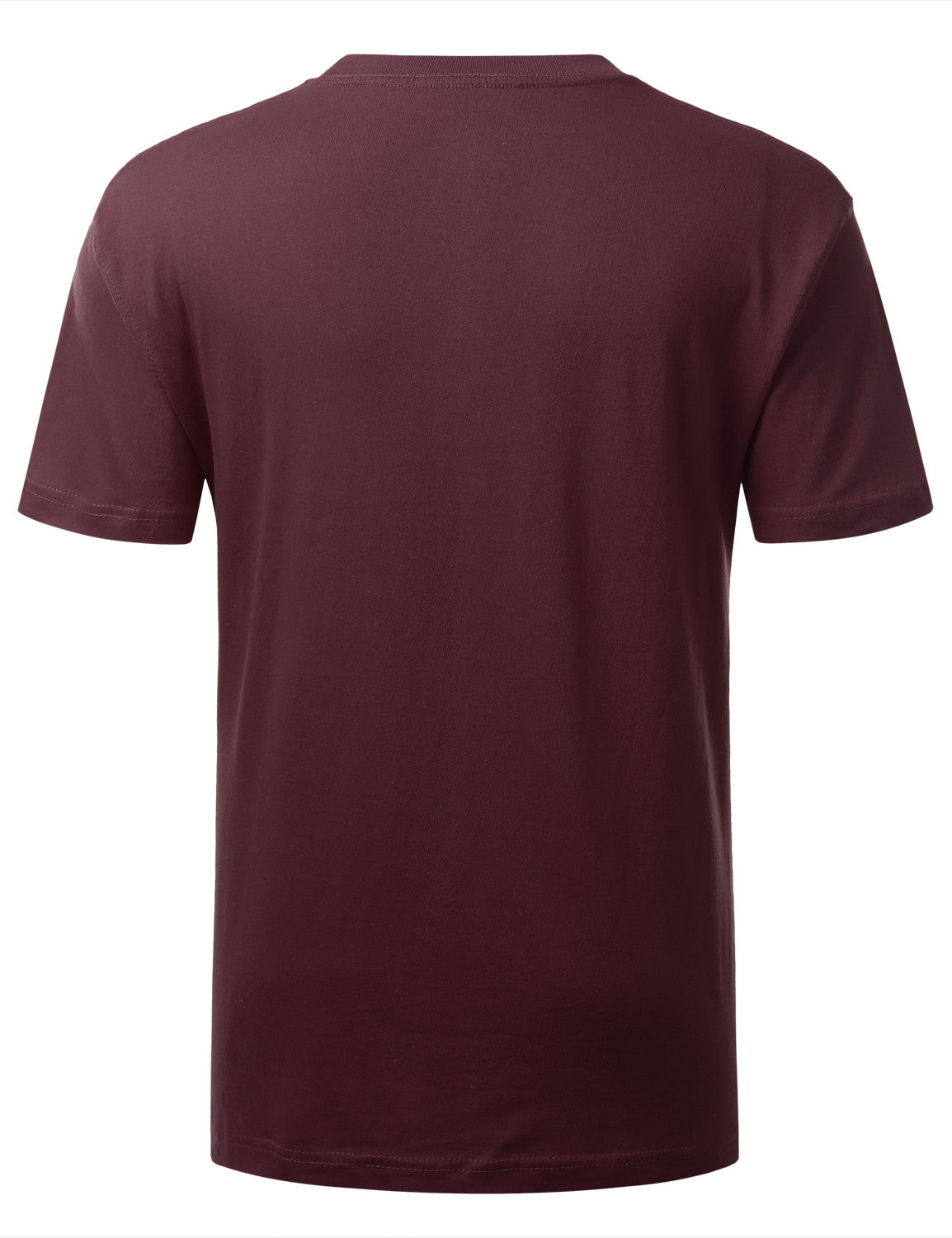 BURGUNDY  Classic Crewneck T Shirt - URBANCREWS