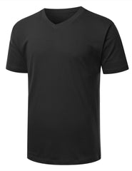 BLACK Basic V-Neck T-Shirt - URBANCREWS