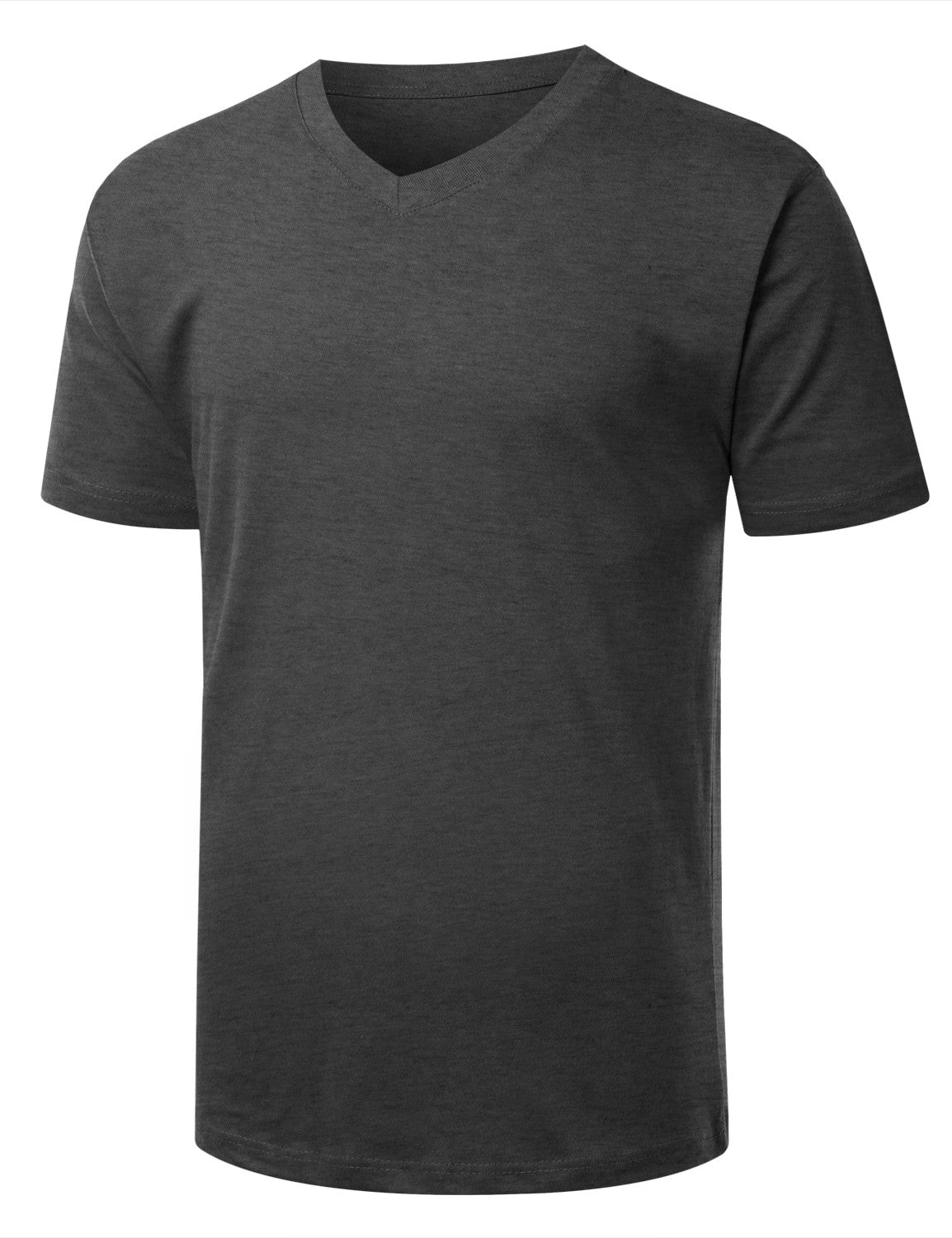 CHARCOAL Basic V-Neck T-Shirt - URBANCREWS