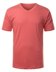 CORAL Basic V-Neck T-Shirt -URBANCREWS