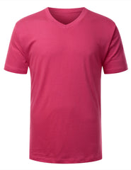 POMEGRANATE Basic V-Neck T-Shirt - URBANCREWS
