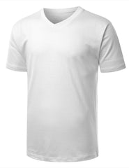 WHITE Basic V-Neck T-Shirt - URBANCREWS