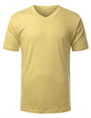 YELLOWCREAM Basic V-Neck T-Shirt - URBANCREWS
