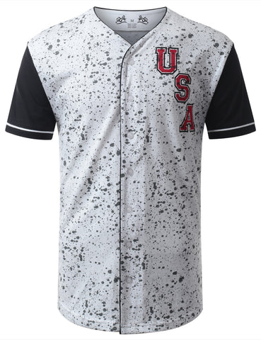 USA Button Down Baseball Jersey