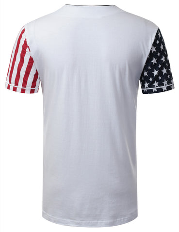 USA Flag Button Down Baseball Jersey