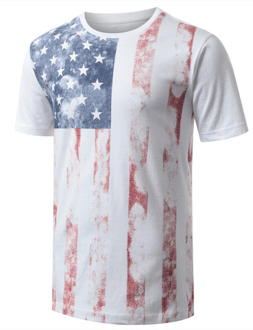 Faded American Flag Crewneck Tshirts