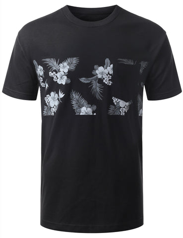 Tropical Floral Tshirts with Chest Pocket