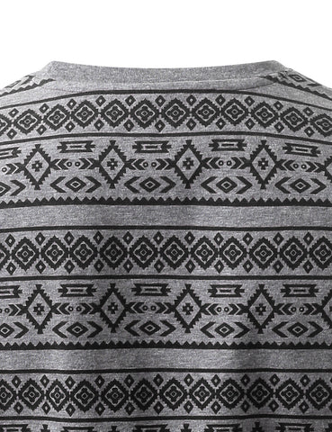 Aztec Crewneck Tshirts with Chest Pocket