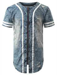 INDIGO DENIM BASEBALL SHIRT
