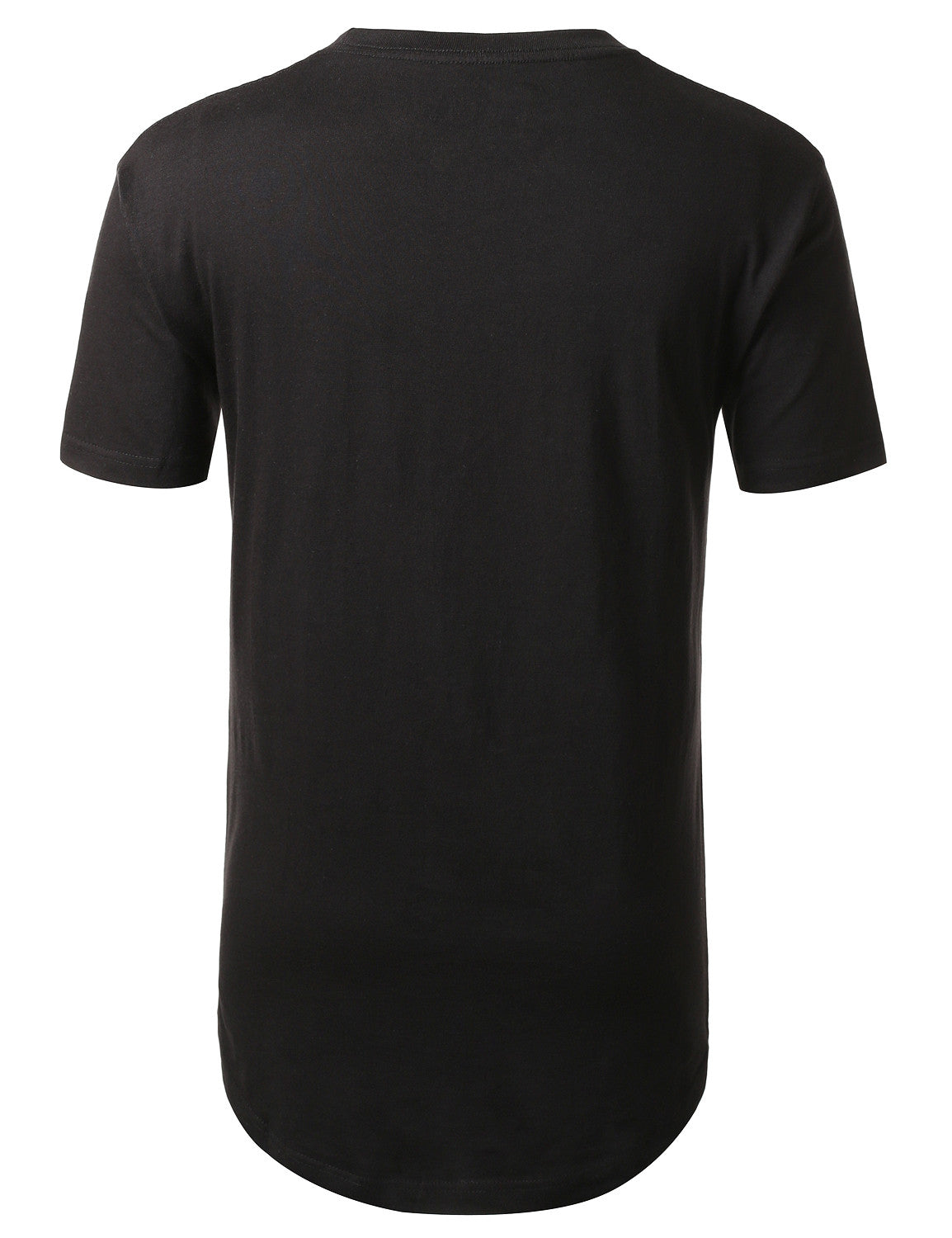 BLACK Naked USA Flag Longline Tshirts- URBANCREWS