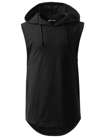 Longline Hooded Muscle Tank Top